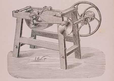 10. Passatrice a tamburo per pomodoro in una illustrazione dei primi anni del Novecento