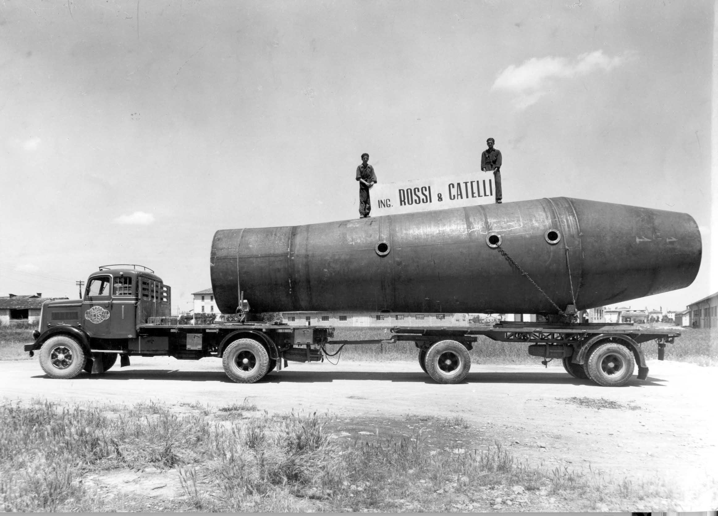 Elemento di un evaporatore per la lavorazione della barbabietole da zucchero costruito dalla Rossi & Catelli nel 1954.