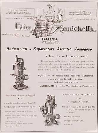 Uno stampato commerciale della ditta Elia Zanichelli