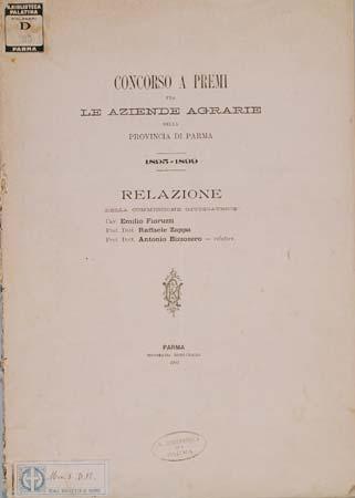 Concorso a premi tra le aziende agrarie della provincia di Parma 1895-1899 (Biblioteca Palatina, Parma)