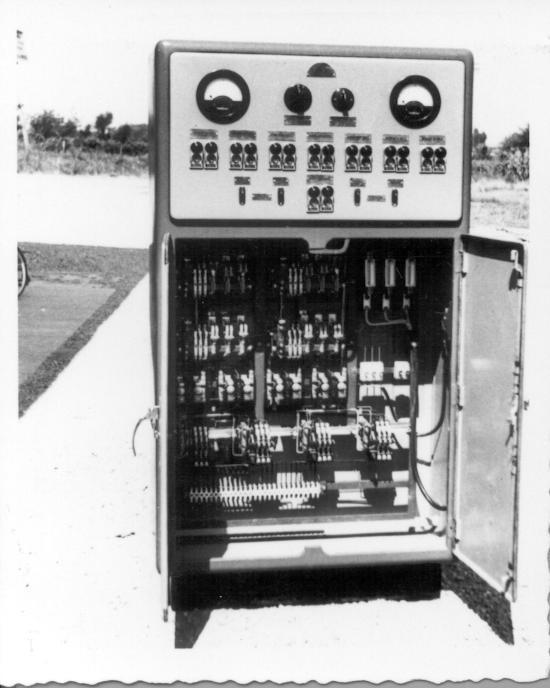 Un armadio di automazione installato da Rossi & Catelli già negli anni Sessanta.