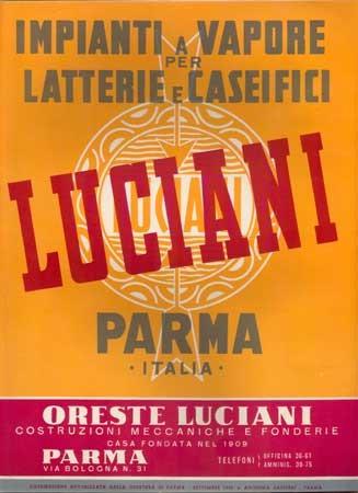 Una locandina pubblicitaria dell'azienda meccanica Oreste Luciani