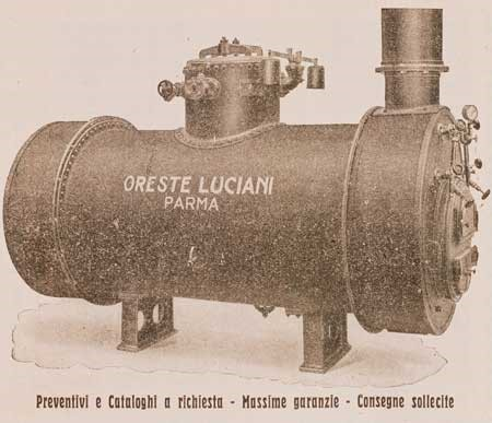 Una delle caldaie prodotte dalle Officine Luciani