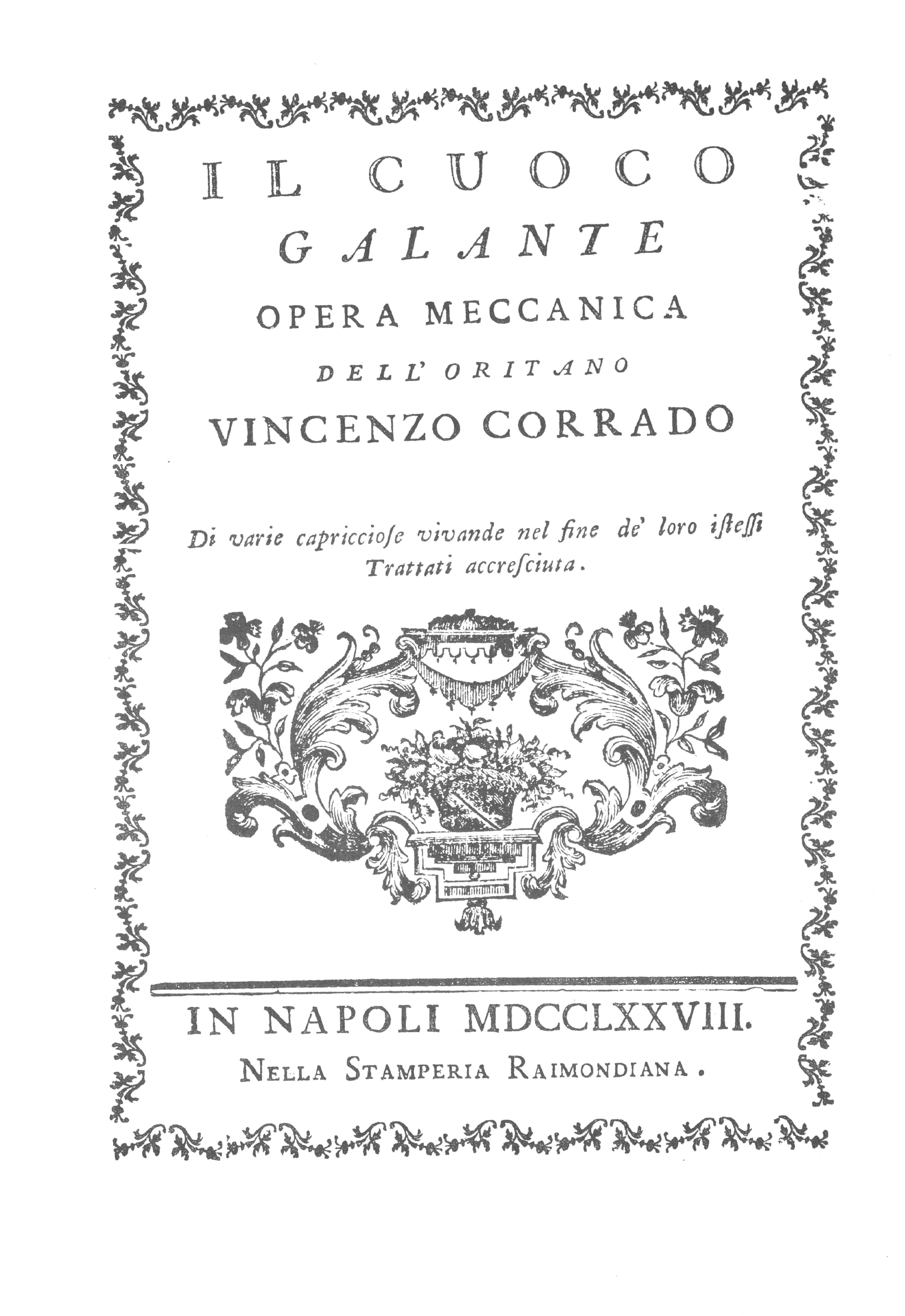 Corrado Vincenzo - Cuoco galante