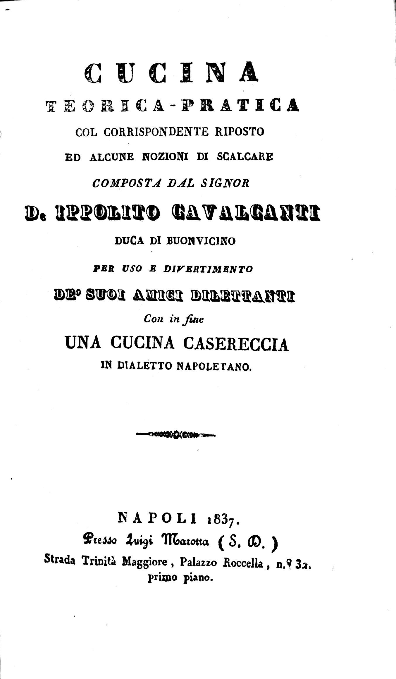 Cavalcanti Ippolito - Cucina teorico pratica