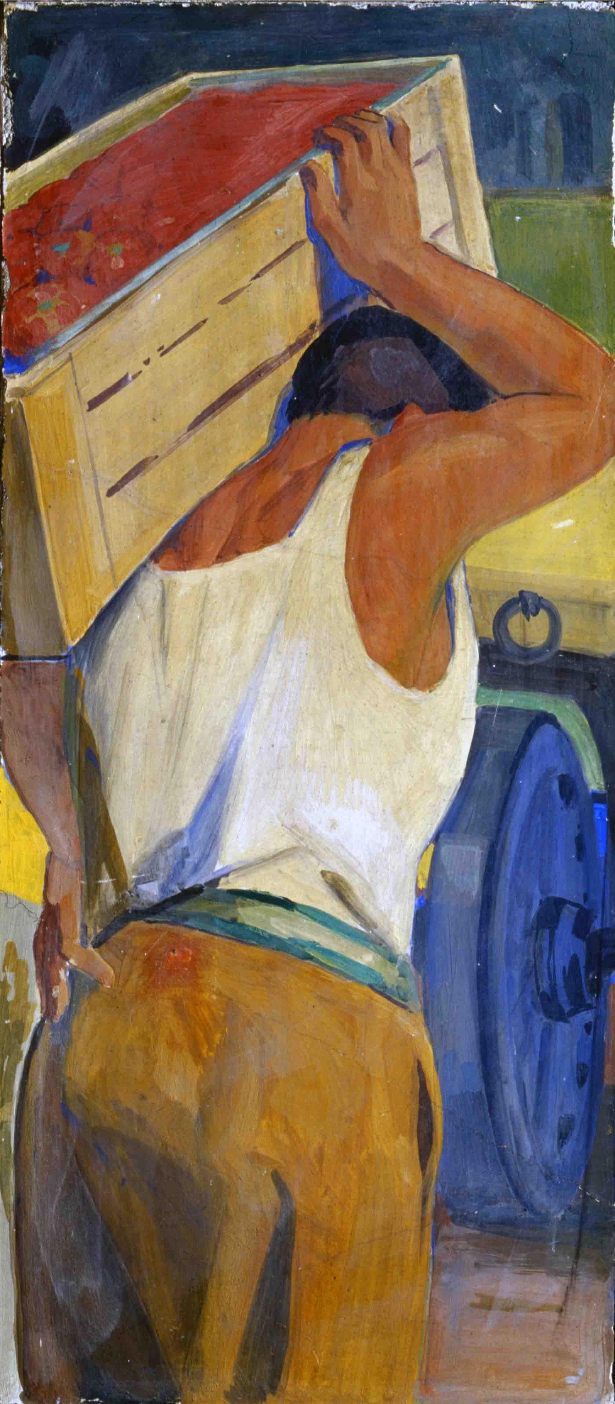 Latino Barilli (1883-1961), La raccolta del pomodoro, 1953 (Parma, Amministrazione Provinciale)