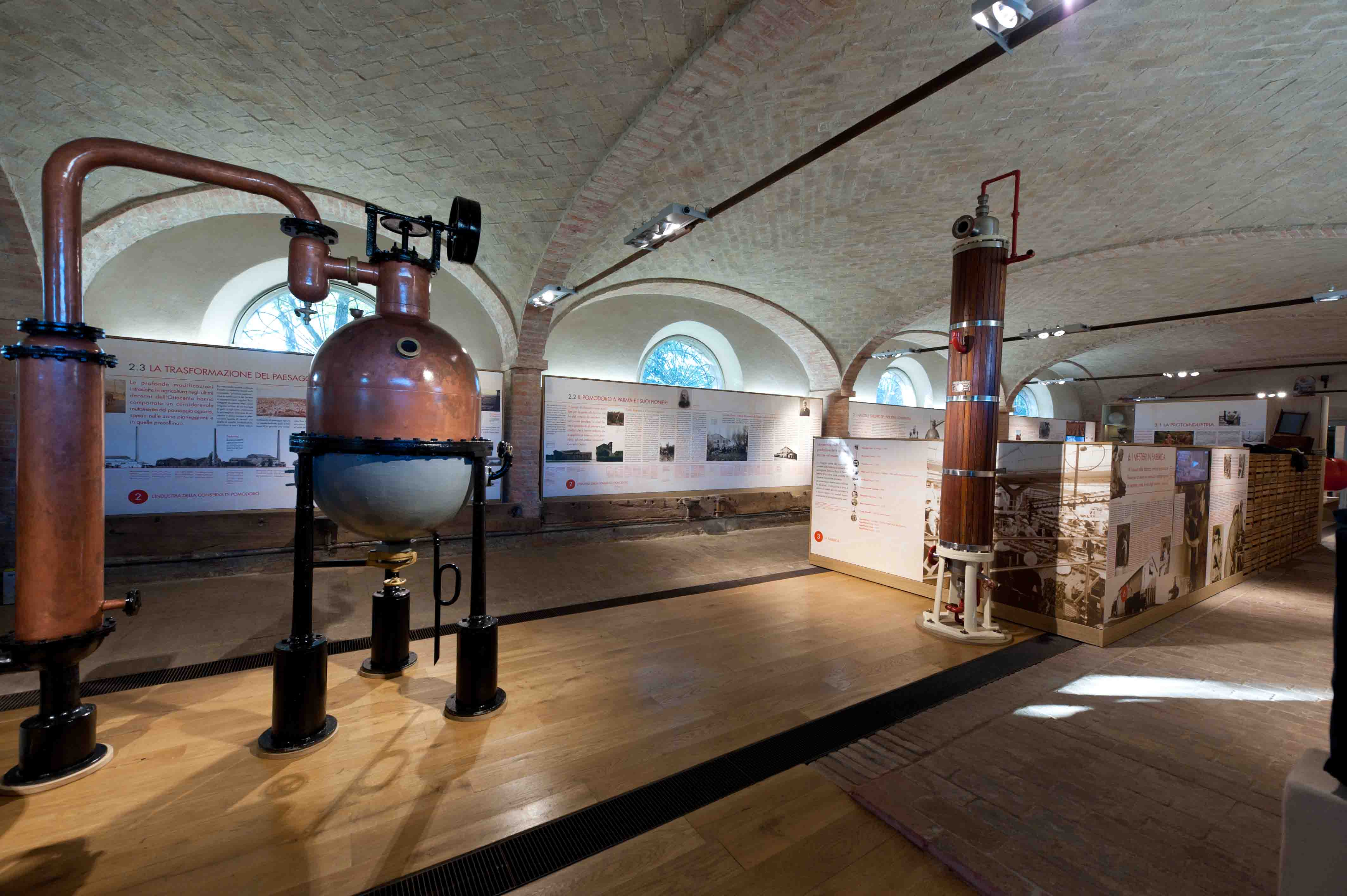 Museo del Pomodoro - La linea della conserva - La boule del 1920 (foto Luca Rossi)