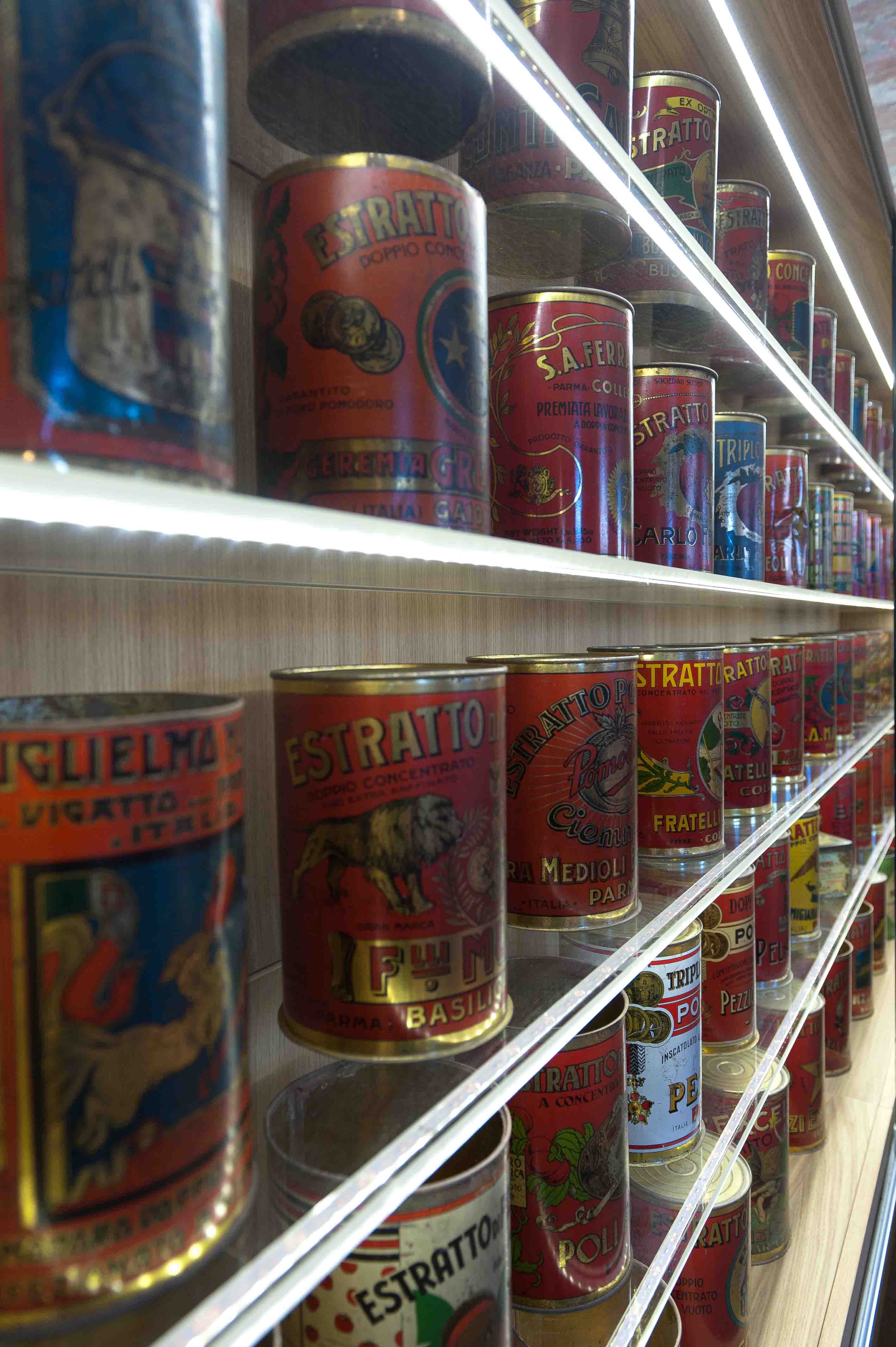 Museo del Pomodoro - La collezione delle scatole (foto Luca Rossi)